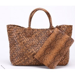 Hand woven metallic bag / handbag / shopper